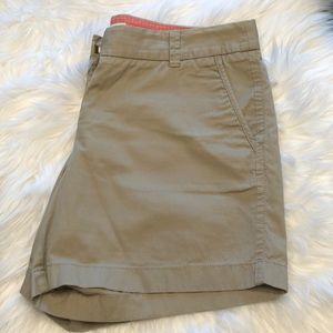 Tan J Crew Broken-in Chino shorts, size 6